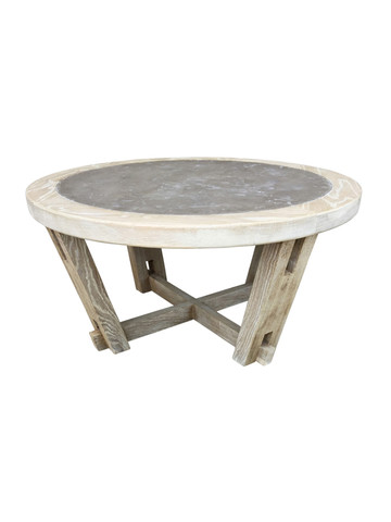 Lucca Studio Dider Round Coffee Table ( Cement top) 36197
