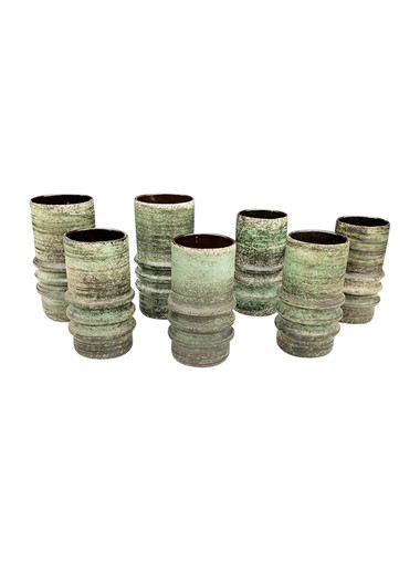 Set of (7)  Vintage Danish Ceramic Vessels 34952