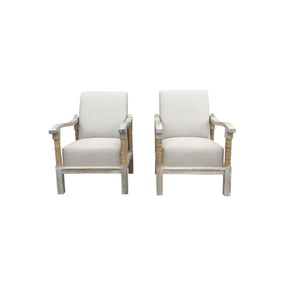 Pair of Lucca Studio Chilmark Arm Chairs 38397