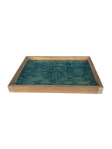 Limited Edition Oak Tray With Vintage Marbleized Paper 34328