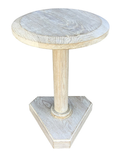 Lucca Studio Bikar Cerused Oak Side Table 33614