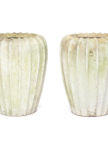 Pair of Large Swedish Sandstone Vessels 35467