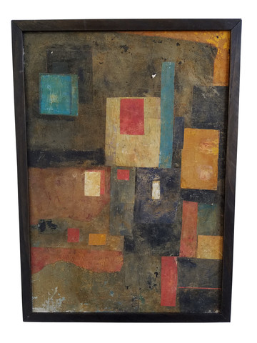 French Mid Century Mixed Media Collage 35928