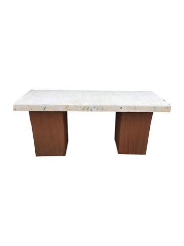 Limited Edition Corten Steel and Marble Top 35564