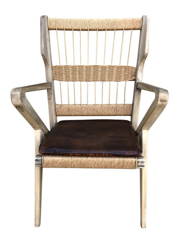 Limited Edition Walnut Rope Arm Chair 35751