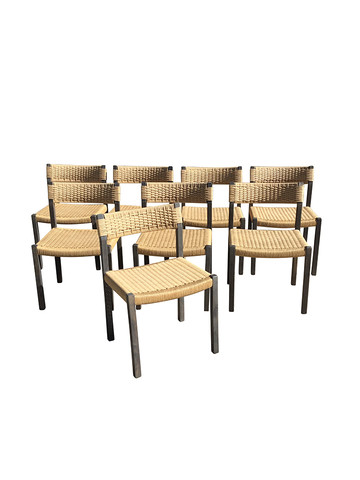 Set of (8) Danish Dining Chairs 33231