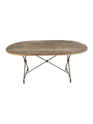 French Oval Oak Dining Table 34601