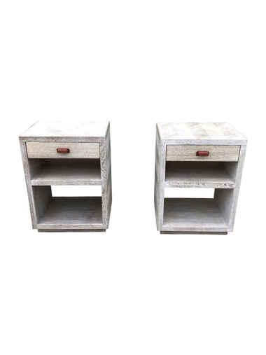 Pair of Oak Night Stands 36167
