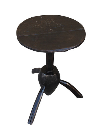 Limited Edition Ebonized Wood Side Table 31767
