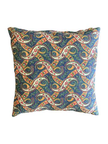 Vintage French Print Textile Pillow 34832