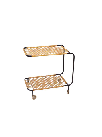 Danish Vintage Rattan Bar Cart 24378