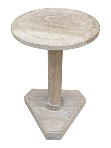 Lucca Studio Bikar Cerused Oak Side Table 33615