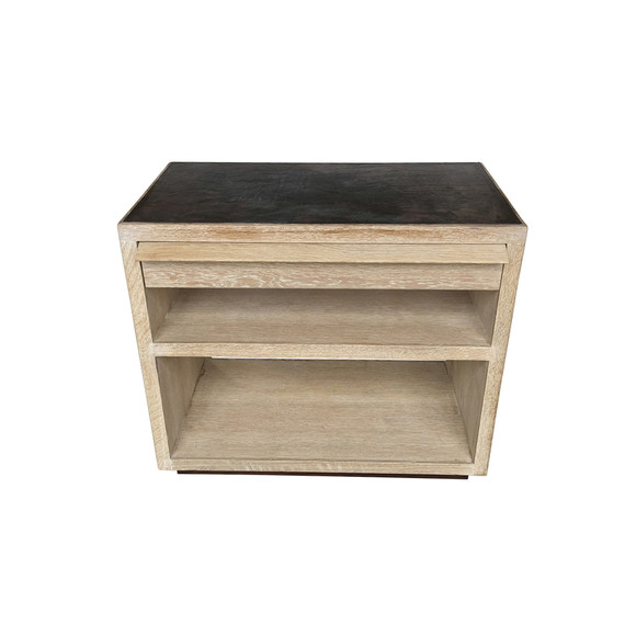 Limited Edition Oak and Leather Night Stand 35066