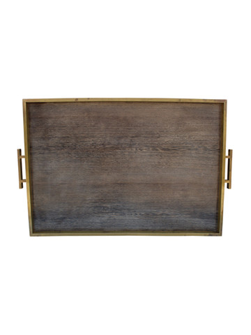 Limited Edition Bronze Tray With Vintage Italian Paper 26803