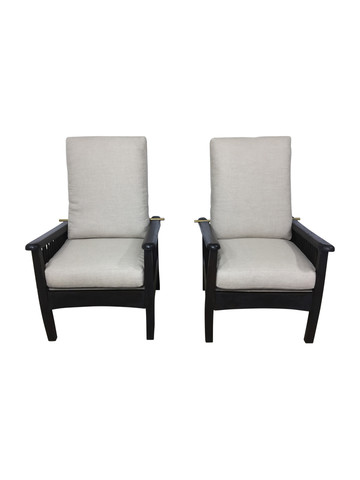 Pair of Slat Back Arm Chairs 37508