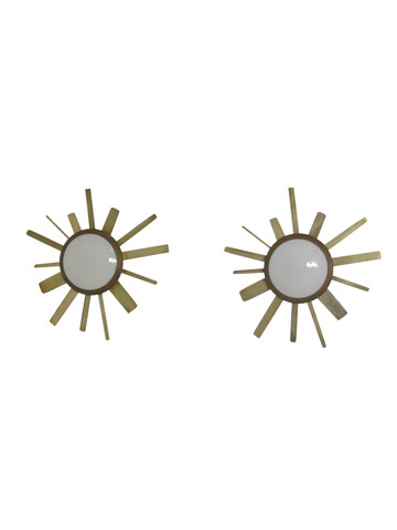 Pair of Lucca Limited Edition Sunburst sconces 35491