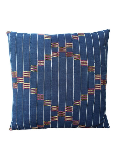 19th Century African Indigo Textile Pillow 28309