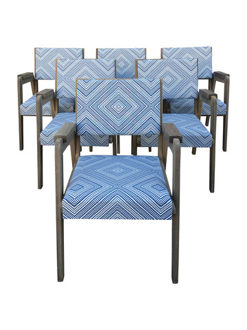 Set of (6) Lucca Studio Turin Outdoor Dining Chairs 33833