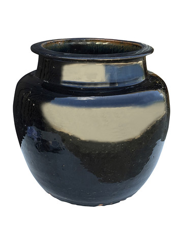 Large Black Glazed Ceramic Vessel from Central Asia 32354