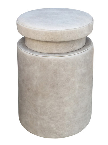 Limited Edition Leather Side Table/Stool 34403