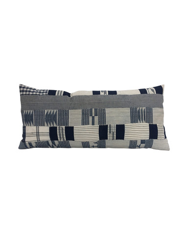 Limited Edition African Patchwork Textile Lumbar Pillow 34516