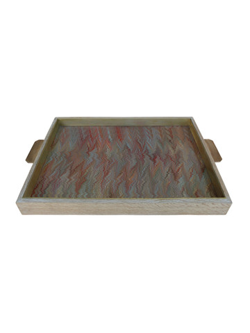 Lucca Limited Edition Oak and Bronze Tray 22612