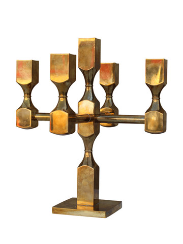 Modernist Swedish Brass Candelabrum 29362