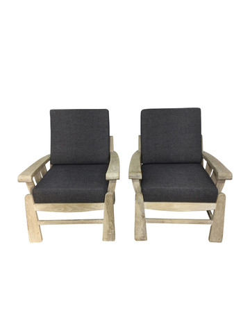 Pair of Lucca Studio Monte Arm Chairs 37451