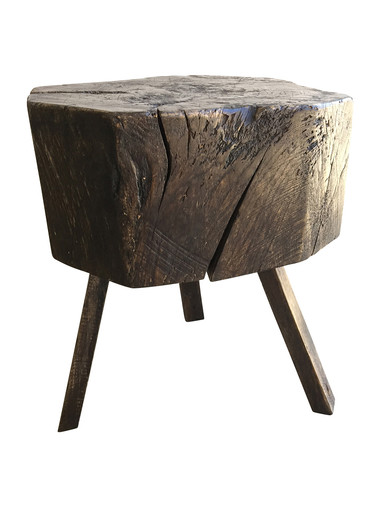 French Wood Side Table 34077