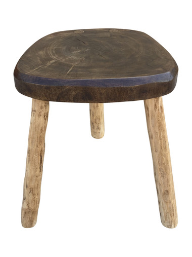 Primitive French Wood Stool/ Table 36577