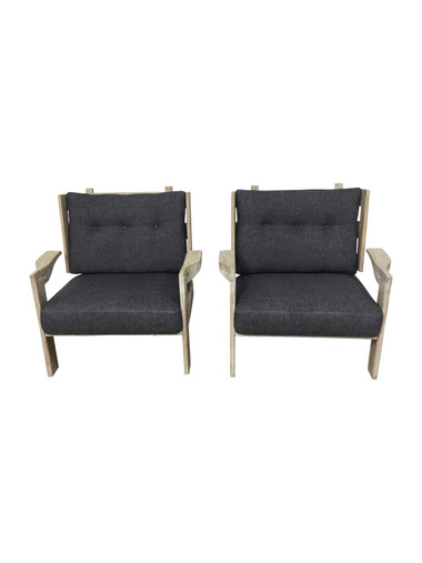 Lucca Studio Arles Oak Arm Chairs 37271