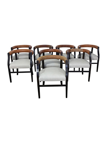 Set of (8) Lucca Studio Bennet Chairs 36953