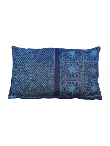 Vintage Indonesian Indigo Batik Textile Pillow 23380