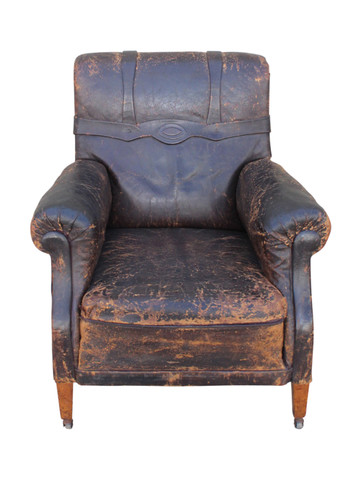 French Leather Club Chair 35146