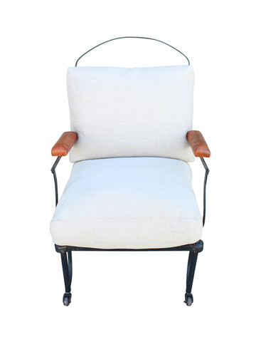 Single French Metal Armchair 27762