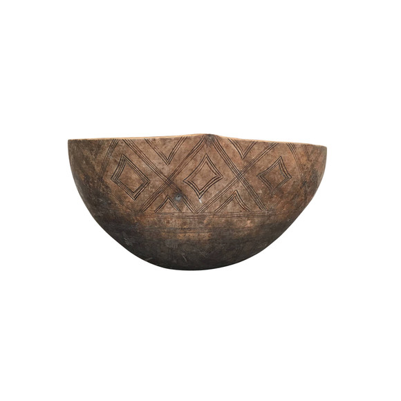 Circa 1900's Large African Wood Bowl 35336