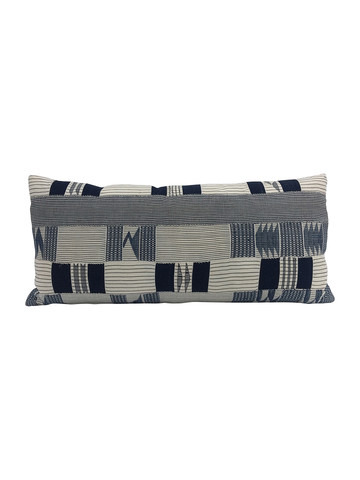 Limited Edition African Patchwork Textile Lumbar Pillow 34052
