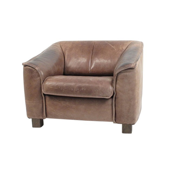 Single Vintage Belgian Leather Armchair 35914