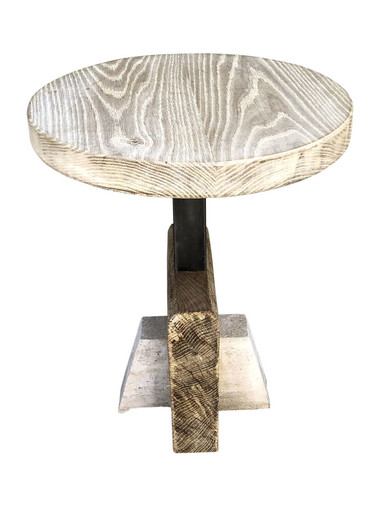 Limited Edition Oak and Stone Side Table 35910