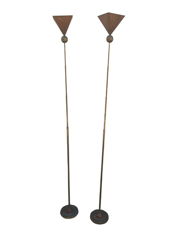 Pair of Copper Floor Lights 31983