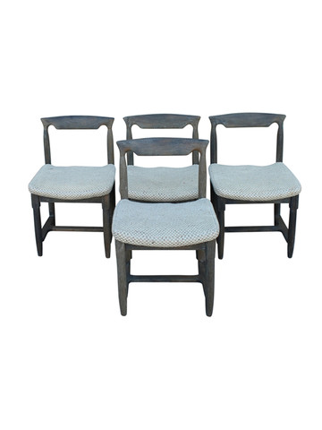 Set of (4) Guillerme et Chambron Dining Chairs 26886