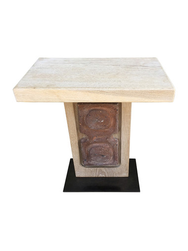 Limited Edition Oak and Ceramic Element Side Table 33525