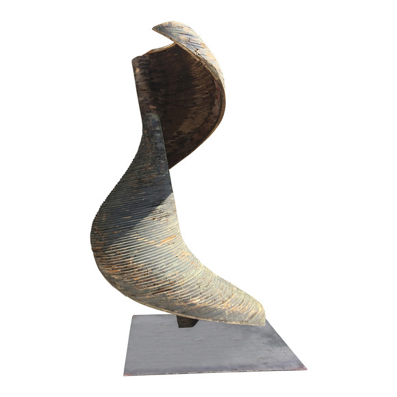 Massive Organic Form Wood Sculpture 32408
