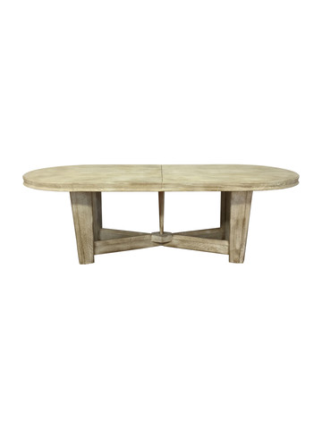 Rare Model Guillerme et Chambron Oval Oak Dining Table 36952