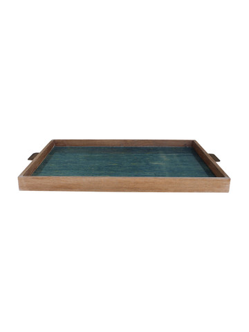 Limited Edition Oak And Vintage Marbleized Paper Tray 34154