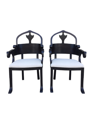 Pair of Lucca Studio Christine Chairs 36862
