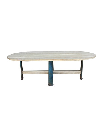 Limited Edition Industrial Base Oval Dining Table 35819