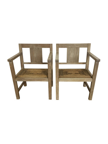 Pair of French Oak Arm Chairs 36663