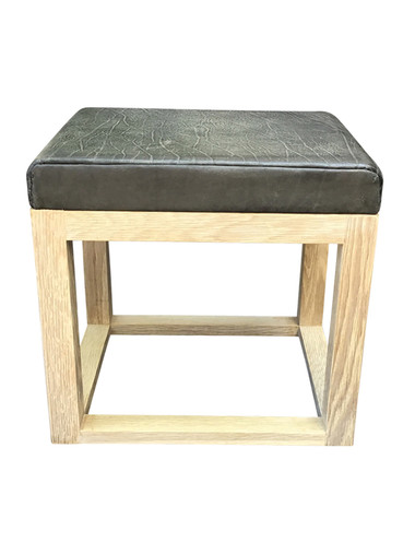 Limited Edition Vintage Leather Top Table/Stool 35754