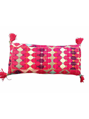 19th Century Turkish Embroidered Textile Pillow 22954